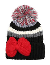 Betsey Johnson Bowlicious Striped Knit Hat