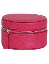 Mele & Co. Joy Faux Leather Magenta Travel Jewelry Case