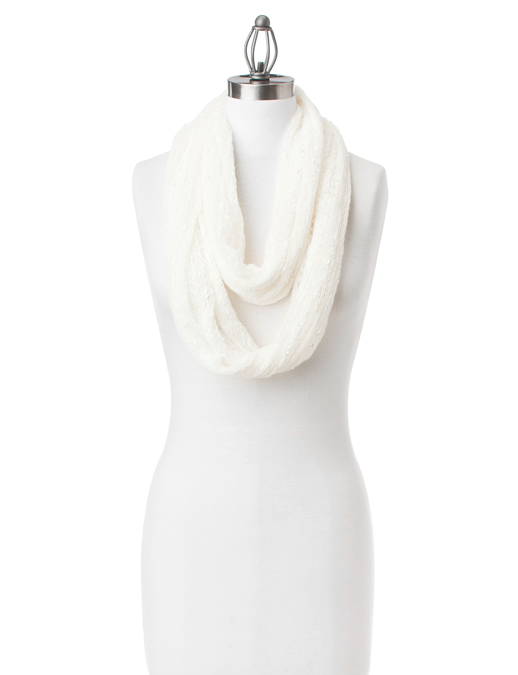 Collection 18 Ivory Scarves & Wraps