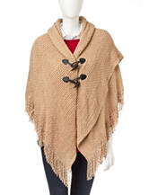 Accessory Street Ripple Knit Toggle Poncho