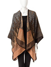 Collection 18 Chevron Wrap Ruana