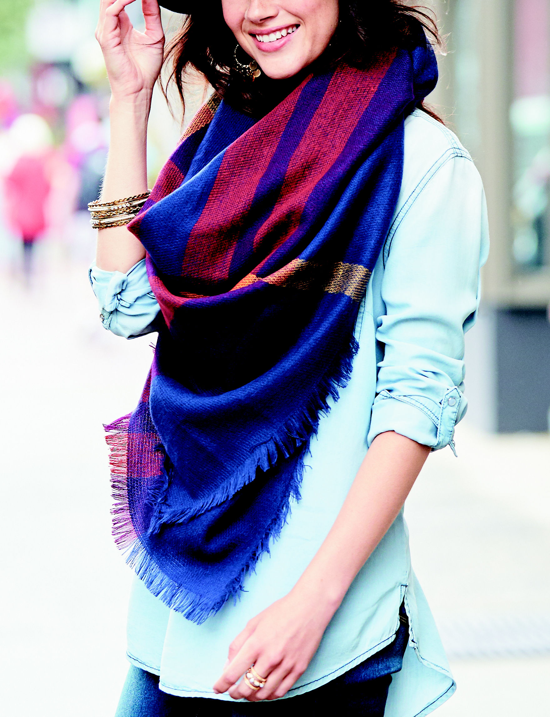 Collection 18 Navy Scarves & Wraps