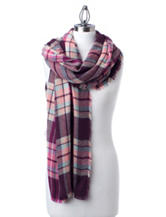 Collection 18 Multicolor Plaid Wrap Scarf