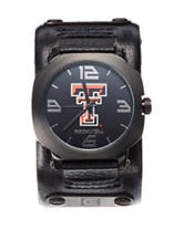 Texas Tech University Rockwell Assassin Black Leather Strap Watch