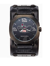 UNLV Rebels Rockwell Assassin Black Leather Strap Watch