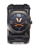 University of Virginia Rockwell Assassin Black Leather Strap Watch