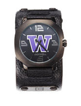 University of Washington Rockwell Assassin Black Leather Strap Watch