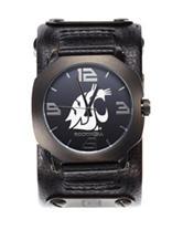 Washington State University Rockwell Assassin Black Leather Strap Watch