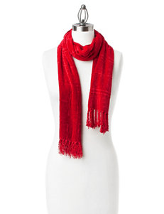 Collection 18 Red Tassel Fringe Scarf