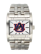 Auburn University Silver-Tone Link Watch