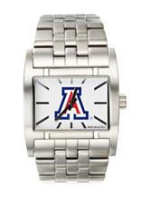 University of Arizona Silver-Tone Link Watch