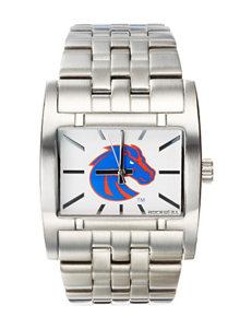 Boise State University Silver-Tone Link Watch