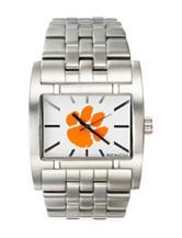 Clemson University Silver-Tone Link Watch