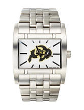 Colorado Buffaloes Silver-Tone Link Watch