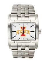 Iowa State University Silver-Tone Link Watch