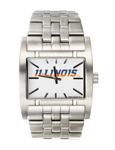 University of Illinois Silver-Tone Link Watch
