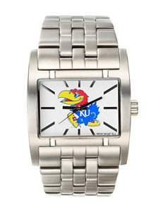 University of Kansas Silver-Tone Link Watch