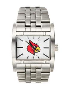 University of Louisville Silver-Tone Link Watch