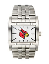 University of Louisville Silver-Tone Link Watch
