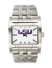 LSU Silver-Tone Link Watch