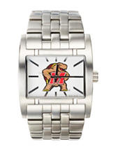 Maryland Terrapins Silver-Tone Link Watch