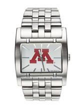 University of Minnesota Silver-Tone Link Watch