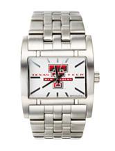 Texas Tech University Silver-Tone Link Watch