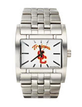 University of Southern California Silver-Tone Link Watch