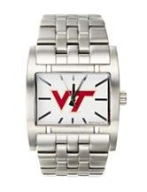 Virginia Tech Silver-Tone Link Watch
