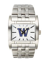 University of Washington Silver-Tone Link Watch