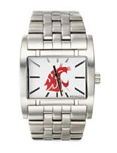 Washington State University Silver-Tone Link Watch