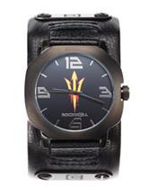Arizona State University Black Leather Strap Watch