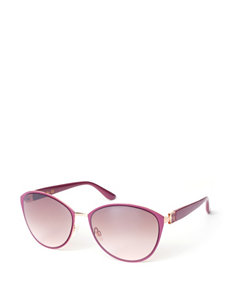 Jessica Simpson Rose Enamel Oval Cateye Sunglasses