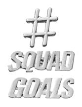 Wishful Park 3-pc. Squad Goals Pin Set
