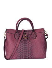 London Fog Windsor Faux Snakeskin Satchel