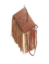 Chinese Laundry Long Fringe Convertible Crossbody Clutch
