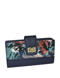 Buxton Abstract Floral Print Super Wallet