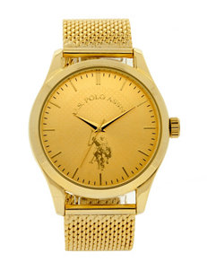 U.S. Polo Assn. Gold Fashion Watches