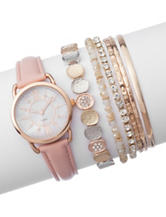 7-pc. Rose Gold-Tone Watch and Bracelet Set