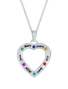 Jay Aimee Personalized Heart Cut-Out Family Pendant