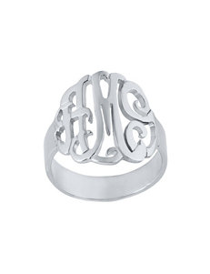 Jay Aimee  Monogram Rings Fine Jewelry