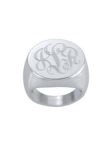Jay Aimee Sterling Silver Monogram Signet Ring