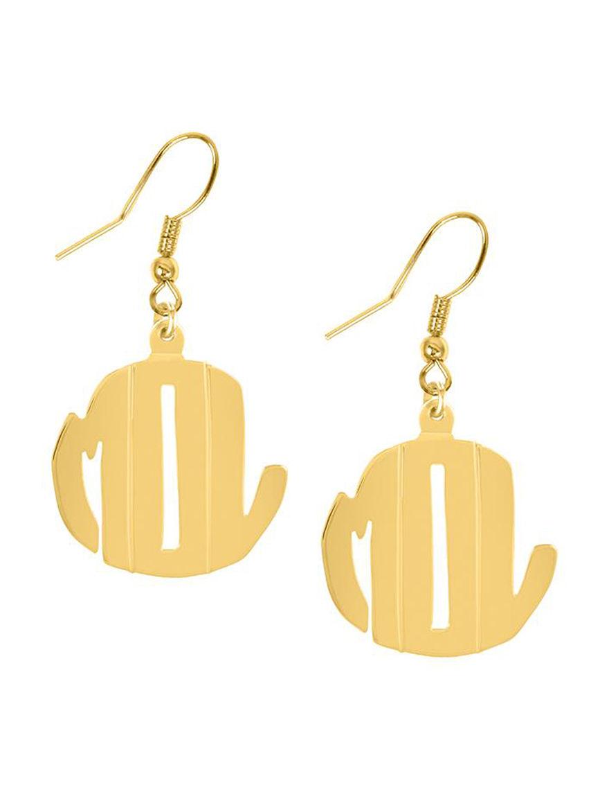 Jay Aimee  Drops Earrings Monogram Fine Jewelry