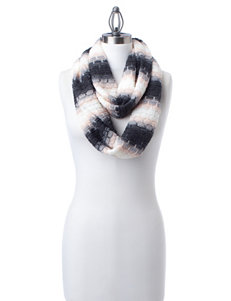 Calvin Klein Multicolor Striped Knit Infinity Scarf