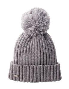 Calvin Klein Grey Pom Pom Beanie Hat