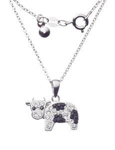 Sunstone Crystal Cow Pendant Necklace