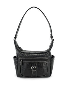 Koltov Regal Urban Croco-Embossed Hobo Bag