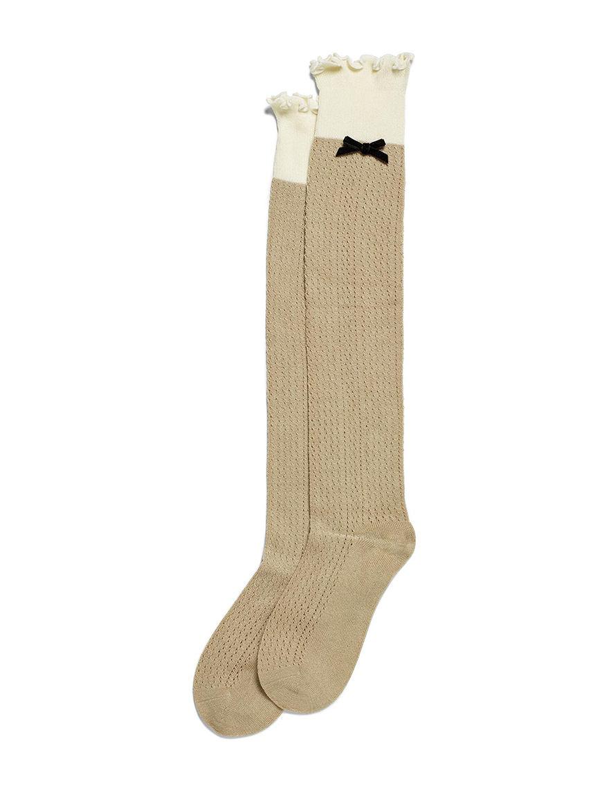 Hue Beige Socks