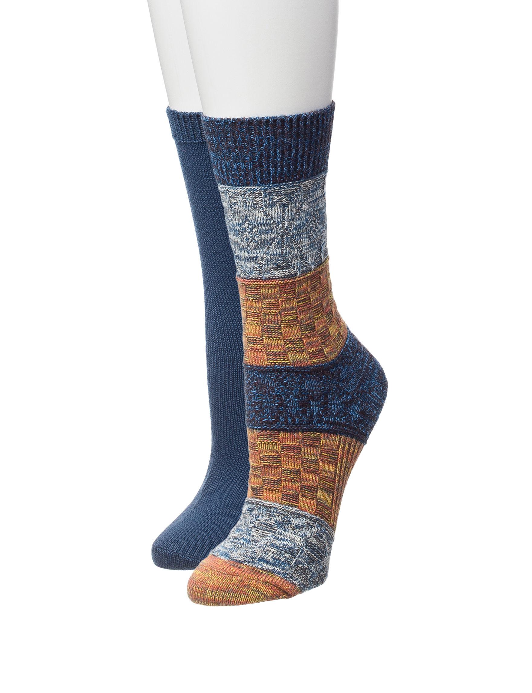 Signature Studio Blue Socks