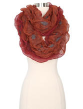 Cejon Tufted Ruffle Loop scarf